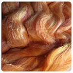 Felting & Needle Felting Wool: Merino Silk Blend 80/20 - Mango