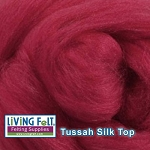 Tussah Silk Top Raspberry