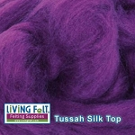 Tussah Silk Top Royal Purple