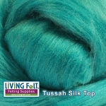 Tussah Silk Top Sea Glass