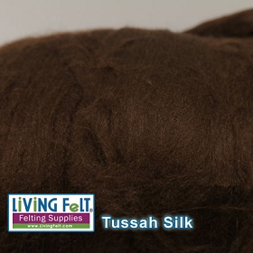 Tussah Silk Top  Milk Chocolate