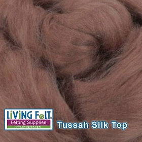 Tussah Silk Top  Nutmeg