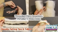 FREE Needle Felt Tutorial: FIRM felting with Armature!