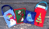FREE Needle Felt Tutorial: Gift Tags, Gift Card Holders, and Ornaments!