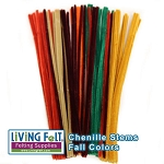 Chenille Stems  Fall Colors  100 pieces