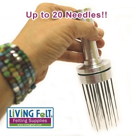 Needle Felting Tool - METAL Up to 20 Felting Needles