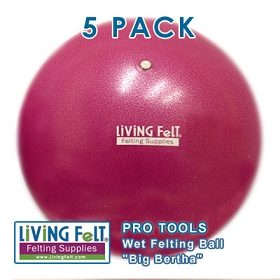 Wet Felting Ball - Big Bertha - 5 PACK