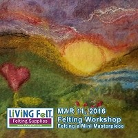 Felting Workshop: Felting a Mini Masterpiece