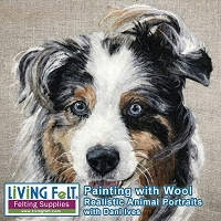 Painting with Wool - Needle Felt Realistic Animal Portraits Workshop