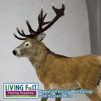 Needle Felting Workshop - Realistic Animals - Red Deer