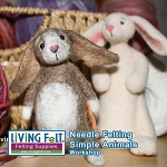 Needle Felting Simple Animals  JAN 14 2017