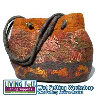 Wet Felting Over a Resist Workshop - Pick Your Project