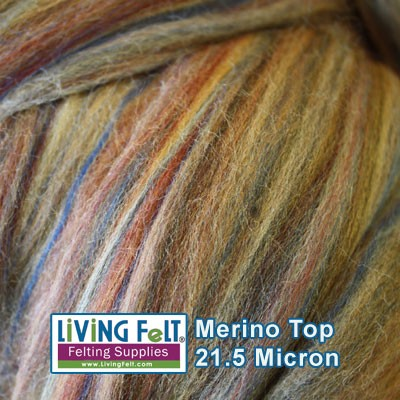 Merino Top  Sandalwood Multi Colored