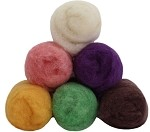 Felting & Needle Felting Wool: Merino Cross Batt EASTER BASKET Studio Pack