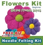 Needle Felting Kit: Needle Felting a Flower FREE