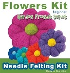 Needle Felting Kit: Needle Felting a Flower