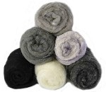 Felting & Needle Felting Wool: Merino Cross Batt  MONOCHROME Studio Pack