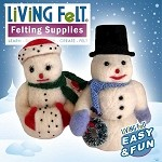 FREE Needle Felting Tutorial: Snow Man