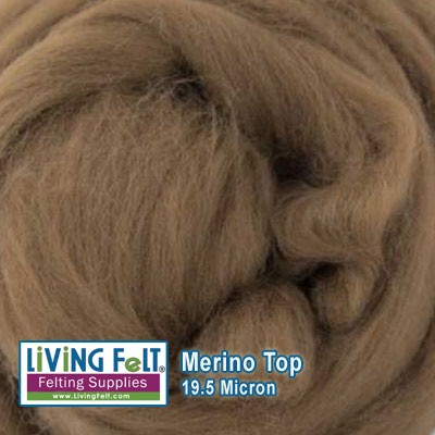 Merino Top –  19.5 Micron - Barn Wood