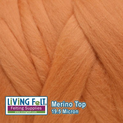 Merino Top – 19.5 Micron - Peach