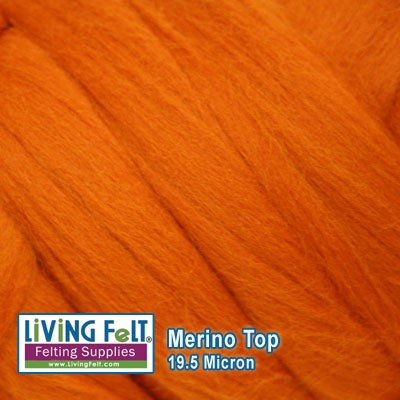 Merino Top – 19 Micron - Pumpkin