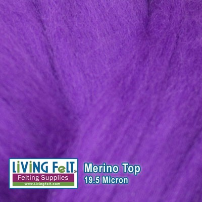 Merino Top – 19.5 Micron - Purple