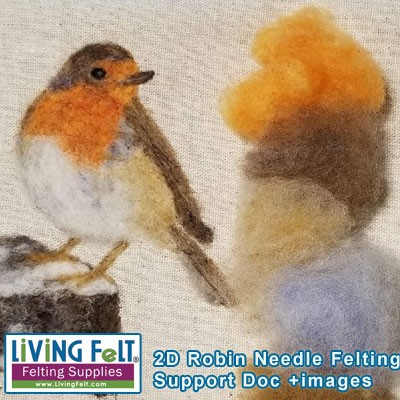 FREE Needle Felting Tutorial: 2D Robin Support Doc