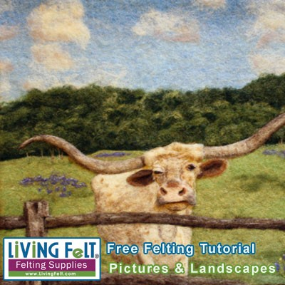 FREE  Felting Tutorial: How to Felt a Picture or Landscape