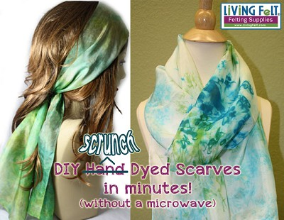 FREE DIY Scrunch Dye  Instant Dyed Silk Scarf  PDF DOWNLOAD