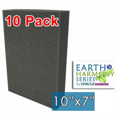 "Needle Felting Foam 10"" x 7"" Earth Harmony Series 10 Pack"