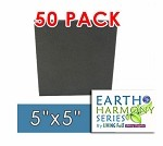 "50 Pack Needle Felting Foam 5"" x 5"" Earth Harmony Series"