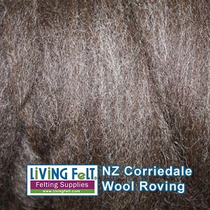 Felting & Needle Felting Wool: New Zealand Corriedale Wool  – Natural Dark