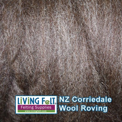 NZ Corriedale Wool  – Natural Dark
