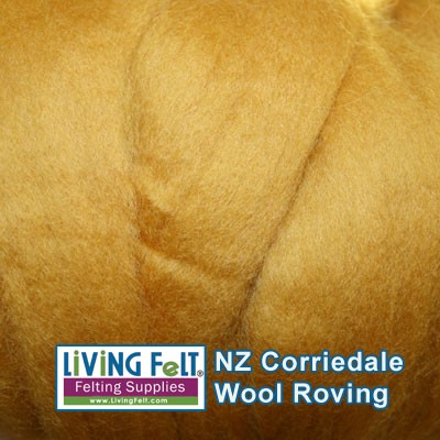 NZ Corriedale Wool  –Butterscotch
