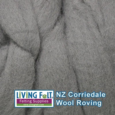 NZ Corriedale Wool - Smoke