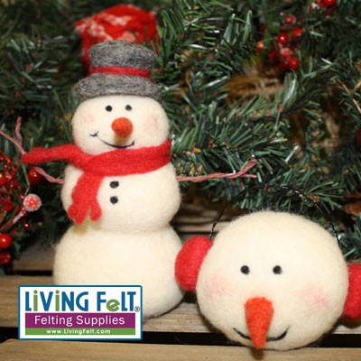 Needle Felting Kit: Snowman and Ornaments