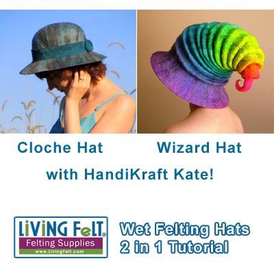 wet felting tutorial felted wizard hat