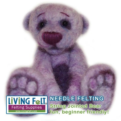 Needle Felting Kit: Bear with String Joints
