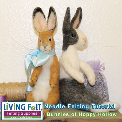 Needle Felting Tutorial - Bunnies of Hoppy Hollow PDF