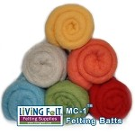 Felting & Needle Felting Wool: Merino Cross Batt BEACH PARTY Studio Pack