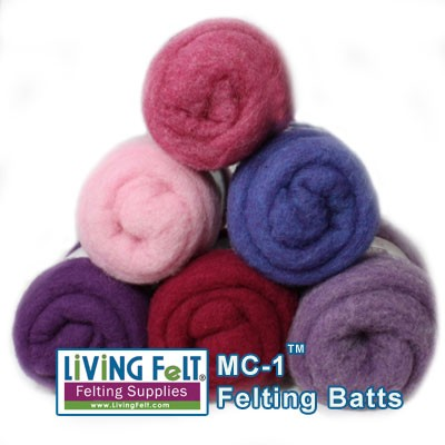 MC-1 Merino Cross Batt - PURPLES/BERRIES Studio Pack