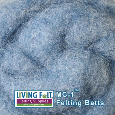 MC-1™    Merino Cross Batt –- Blue Frost