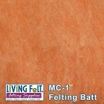 MC-1  Merino Cross Batt  Canteloupe
