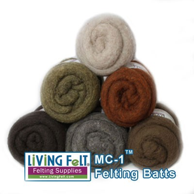 MC-1 Merino Cross Batt - EARTH TONES Studio Pack