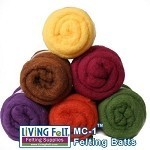 Felting & Needle Felting Wool: Merino Cross Batt – FALL STUDIO FUN PACK