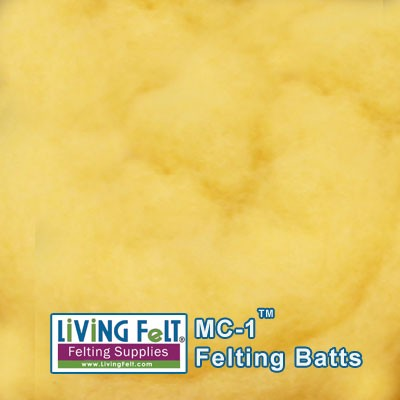 MC-1™    Merino Cross Batt – Lemon Peel