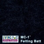 MC-1    Merino Cross Batt  Black Onyx