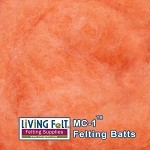 MC-1™    Merino Cross Batt –- Orange Creme