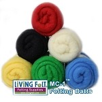 Felting & Needle Felting Wool: Merino Cross Batt – PRIMARY STUDIO PACK