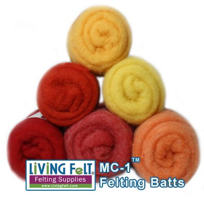 MC-1™ Merino Cross Batt: SUMMER FLOWERS Studio Pack